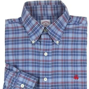 Brooks Brothers Supima Cotton Plaid Shirt Medium